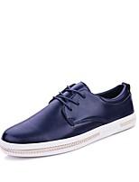 Masculino Oxfords Conforto Solados com Luzes Sapatos de mergulho Primavera Outono Pele Real Couro Couro Ecológico Casual Cadarço Rasteiro