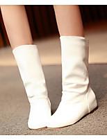 Для женщин Обувь Полиуретан Весна Осень Армейские ботинки Удобная обувь Ботинки Назначение Повседневные Белый Черный Желтый