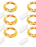 6PCS 2M 20 LED CR2032 Button Battery LED Light String Christmas Wedding Party Deco