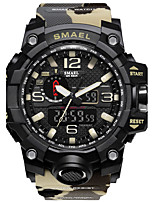 Smael Men's Kid's Sport Watch Chinese Digital Water Resistant / Water Proof Stopwatch Noctilucent PU Band Black Red