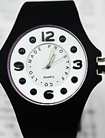 Муж. Жен. Модные часы Кварцевый Pезина Группа Черный