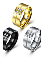 3 Color Man 2017 Fashion Luxury Simple Classic Titanium Steel Band Rings Jewelry For Man