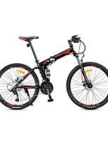 Горный велосипед Велоспорт 27 Скорость 26 дюймы/700CC MICROSHIFT 24 Дисковый тормоз Передняя вилка с амортизацией Стальная рама Углерод