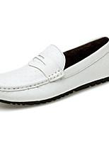Для мужчин Мокасины и Свитер Удобная обувь Светодиодные подошвы Обувь для дайвинга Натуральная кожа Наппа Leather Кожа Весна ОсеньСвадьба