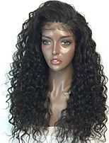 Premier®Brazilian Human Virgin Unprocessed Curly Hair 180% Density Glueless Lace Front Hair Wigs For Women With Baby Hair Bleached Knots Hairline