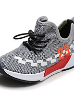 Boys' Athletic Shoes Comfort Tulle Spring Fall Athletic Walking Lace-up Flat Heel Blushing Pink Green Gray Black Flat
