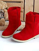 Feminino Sapatos Couro Ecológico Outono Conforto Botas Para Casual Amarelo Vermelho Verde
