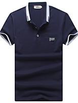 Men's Sports Casual/Daily Work Simple Active Summer PoloColor Block Shirt Collar Short Sleeve Cotton Nylon Medium k533