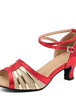 Damen Latin Glitzer Paillette Polyamid-Faser Kunststoff Glanz Sandalen Absätze Sneaker Innen Pailletten Verschlussschnalle Glitter