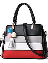 IMBETTUY Women's Fashion Splicing PU Leather Messenger Shoulder Bags/Handbag Tote