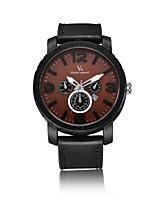 V6 Муж. Нарядные часы Модные часы Японский Кварцевый Календарь Защита от влаги Кожа Группа Cool Повседневная Черный Зеленый