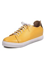 Women's Sneakers Comfort Driving Shoes Fall Leatherette Casual Outdoor Dress Flat Heel White Yellow Blushing Pink Flat