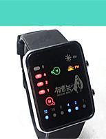 Муж. Жен. Модные часы Цифровой Фосфоресцирующий силиконовый Группа Мультфильмы Черный