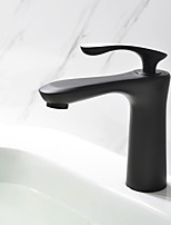 Artistic Centerset Ceramic Valve Single Handle One Hole for  Oil-rubbed Bronze , Bathroom Sink Faucet
