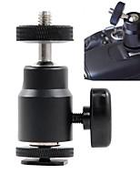 1/4 adaptador del zapato caliente mini cabeza de la bola montaje 360 grados para las cámaras fotográficas de las videocámaras smartphone