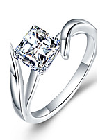 Women's Band Rings AAA Cubic Zirconia Fashion Simple  Elegant Silver Ring Jewelry For Wedding Engagement Daily Ceremony