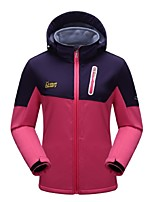 Women's Windproof Wearable Breathability Stretchy Full Length Visible Zipper Fleece Jackets Softshell Jacket Woman's Jacket Winter Jacket