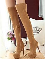 Для женщин Обувь Нубук Полиуретан Осень Зима Удобная обувь Ботинки Назначение Повседневные Черный Желтый