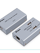 USB 2.0 Splitter, USB 2.0 to Cat 5e UTP Cat 6e UTP Splitter Hembra - Hembra