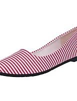 Для женщин На плокой подошве Удобная обувь Осень Ткань Повседневные На плоской подошве Черный Красный 2,5 - 4,5 см