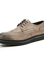 Для мужчин обувь Искусственное волокно Весна Осень Удобная обувь Формальная обувь Обувь для дайвинга Туфли на шнуровке Шнуровка Назначение