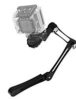 Asj gopro héros caméras accessoires alliage d'aluminium pli handheld selfie stick