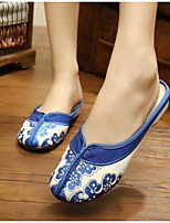 Women's Shoes Fabric Summer Comfort Slippers & Flip-Flops With For Casual Red Blue