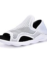 Men's Sandals Comfort Summer PU Outdoor White Black Flat