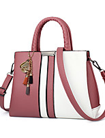 Women Bags All Seasons PU Tote with for Casual Formal Outdoor Office & Career Red Blushing Pink Gray Dark Grey Dark Fuchsia