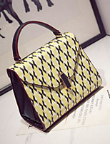 Women Bags All Seasons PU Tote with for Casual Outdoor Yellow