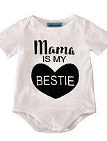 Baby Romper Print One-Pieces Cotton Summer Short Sleeve Mama Is My Bestie Boys Girls Jumpsuits Bodysuits