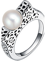 Settings Ring Band Ring  Luxury Women's Euramerican Fashion Pearl Style Business  Graduation Anniversary Birthday  Movie Gift Jewelry