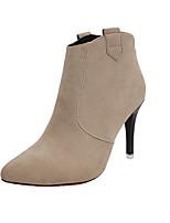 Для женщин Обувь на каблуках Формальная обувь Замша Осень Для праздника Для вечеринки / ужина Для прогулок На шпильке Черный Серый Хаки