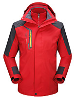 Men's 3-in-1 Jackets Keep Warm Breathable Wearproof 3-in-1 Jackets for Running/Jogging Camping / Hiking Climbing Winter Fall/Autumn XL