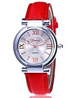 Mujer Reloj de Vestir Reloj de Moda Reloj de Pulsera Reloj creativo único Reloj Casual Chino Cuarzo PU Banda Casual ElegantesNegro Blanco