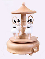 Music Box Cylindrical Wooden