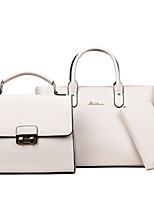 Women Bags All Seasons PU Bag Set with for Casual White Black Red Gray