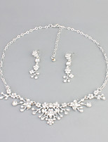 Jewelry 1 Necklace / 1 Pair of Earrings Rhinestone Halloween / Wedding / Party / Daily / Casual 1set Women Silver Wedding Gifts