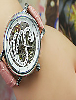 Муж. Модные часы Механические часы С автоподзаводом Кожа Группа Черный Красный Розовый