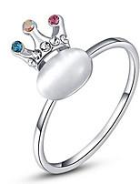 Жен. Кольца на вторую фалангу Классические кольца Опал СтразыБазовый дизайн Мода По заказу покупателя Хип-хоп Rock Симпатичные Стиль