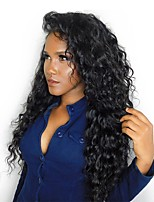 CARA HAIR 250% Density Lace Front Human Hair Wigs Peruvian Curly Remy Hair 14-24inch Natural Black Color