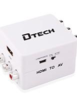 DTech HDMI 1.4 Converter HDMI 1.4 to 3RCA Converter Female - Female