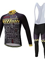 Cycling Jersey with Bib Tights Unisex Long Sleeves Bike Clothing Suits Thermal / Warm Thick Polyester Silicon Fleece LYCRA® Winter