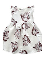Girl's Animal Print Dress,Cotton Summer Sleeveless
