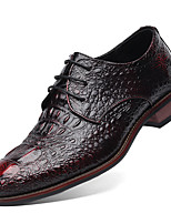Men's Shoes Real Leather Cowhide Spring Summer Fall Winter Novelty Formal Shoes Oxfords Split Joint For Casual Party & Evening Outdoor