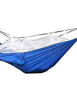 Camping Hammock with Mosquito Net Breathable Collapsible Ultra Light (UL) Nylon for Camping Camping / Hiking / Caving Outdoor