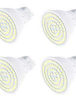4W Spot LED MR16 80 SMD 2835 320 lm Blanc Chaud Blanc Froid Décorative V 4 pièces GU10