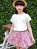 Girls' Floral Sets,Cotton Summer Clothing Set