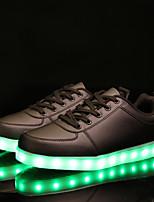 Для женщин Кеды Светодиодные подошвы Обувь с подсветкой Удобная обувь Искусственное волокно Весна Осень Повседневные Для вечеринки / ужина