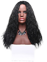 Long Black Deep Wave Natural Wig for Women Costume Cosplay Synthetic Wigs